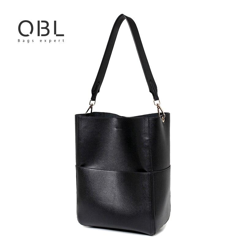 Bolsos de Totalizador de Hombro Bucket Bag Ladies Bolsas de Mano de LA PU Bolsa