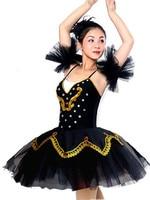 Women Ballet Leotard Female Adult Ballet Tutu Dress Black And White Swan Lake Ballet Dance Tutu