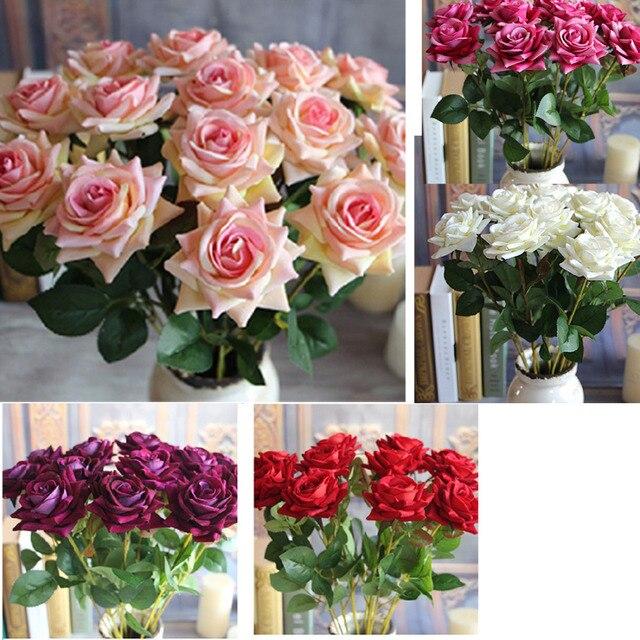 Big Sale 1pcs Valentines Rose Spring Artificial Fake Flower