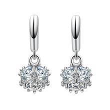 цена на 2017 new arrival hot sell fashion shiny zircon star 925 sterling silver women stud earrings female jewelry drop shipping gift
