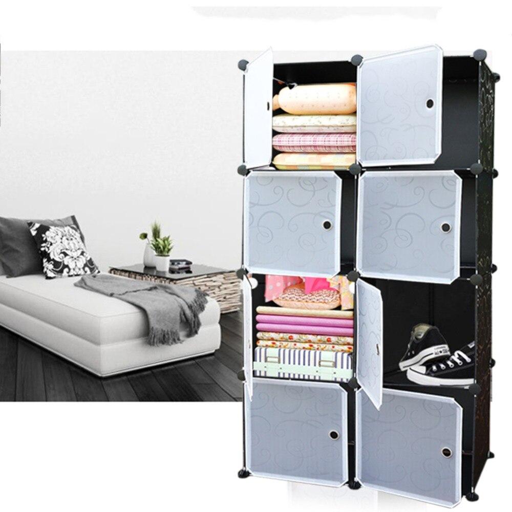 New Arrival 20 Lattice DIY Assembled Wardrobe Simple Wardrobe Hanging Clothes Storage Cabinet Baby Wardrobe Home Furniture