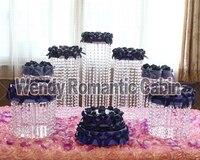 7 adet Düğün akrilik şeffaf pasta Standı Düğün Centerpiece lüks doğum günü Parti Ziyafet Dekorasyon