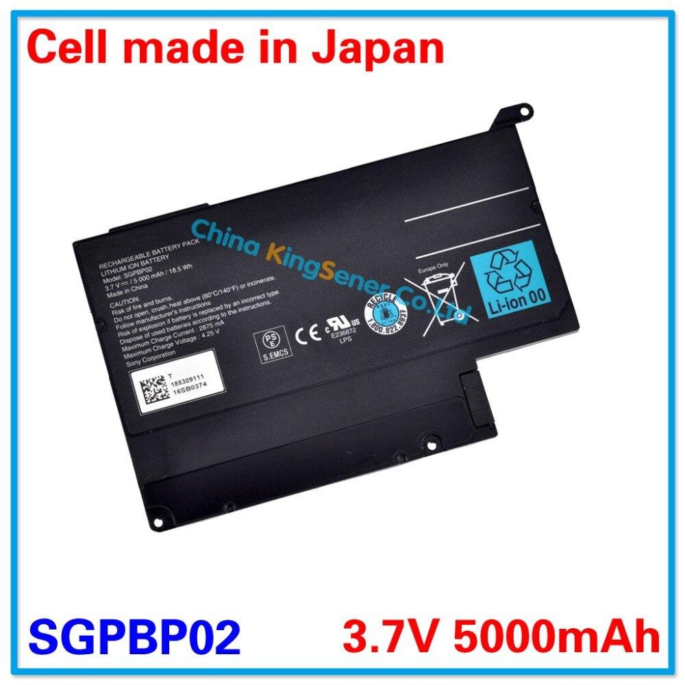 3.7V 5000mAh Original New Laptop Battery SGPBP02 for SONY Tablet S S1 S2 SGPT111CN SGPT112CN SGPBP02 18.5WH