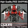 8Gift+ Factory red For SUZUKI GSXR750 08-10 GSXR 600 750 08 09 10 Red white 4JK839  K8 GSX R600 R750 2008 2009 2010 hot Fairing
