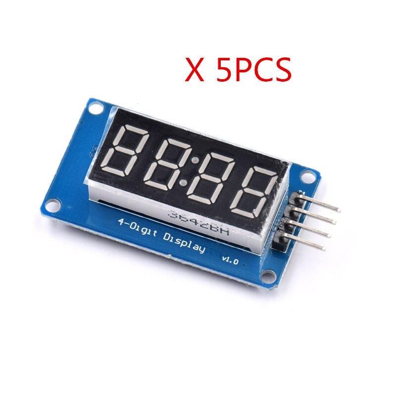 5 шт. tm1637 LED Дисплей модуль для 7-сегментный 4 биты 0.36 дюйма часы красный анод цифровой трубки четыре последовательных драйвер платы pack