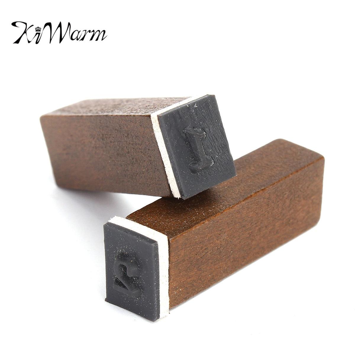 KiWarm 70pcs Set Stamp Korean Number Alphabet Handwriting Capital Wooden Box Rubber Stamp Gift For Kids