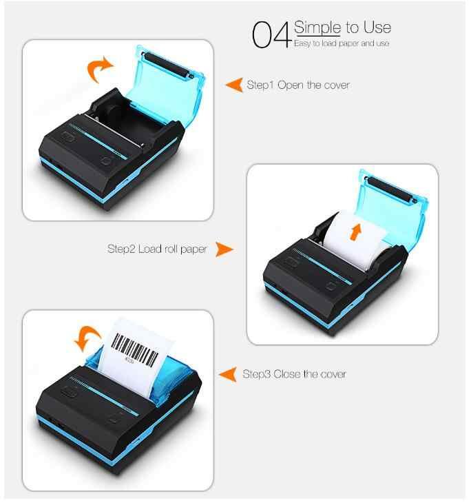 Cột Mốc POS Máy In Nhiệt Bluetooth Nhận Hàng Hóa Đơn Vé Android IOS Máy Tính Mini Không Dây Di Động Ánh Sáng Nhỏ MHT-P5801