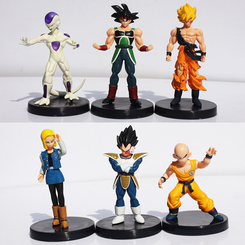 все цены на  6Pcs/set Dragon Ball Z  Figures DragonBall Son goku Gogeta Gotenks PVC Action Figure Collectable Model Toy Free Shipping  онлайн