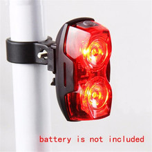 Cycling Night Super Bright Red 2 LED Plastic Rear Tail Light Bicycle Safety Lamp Bike Accessories