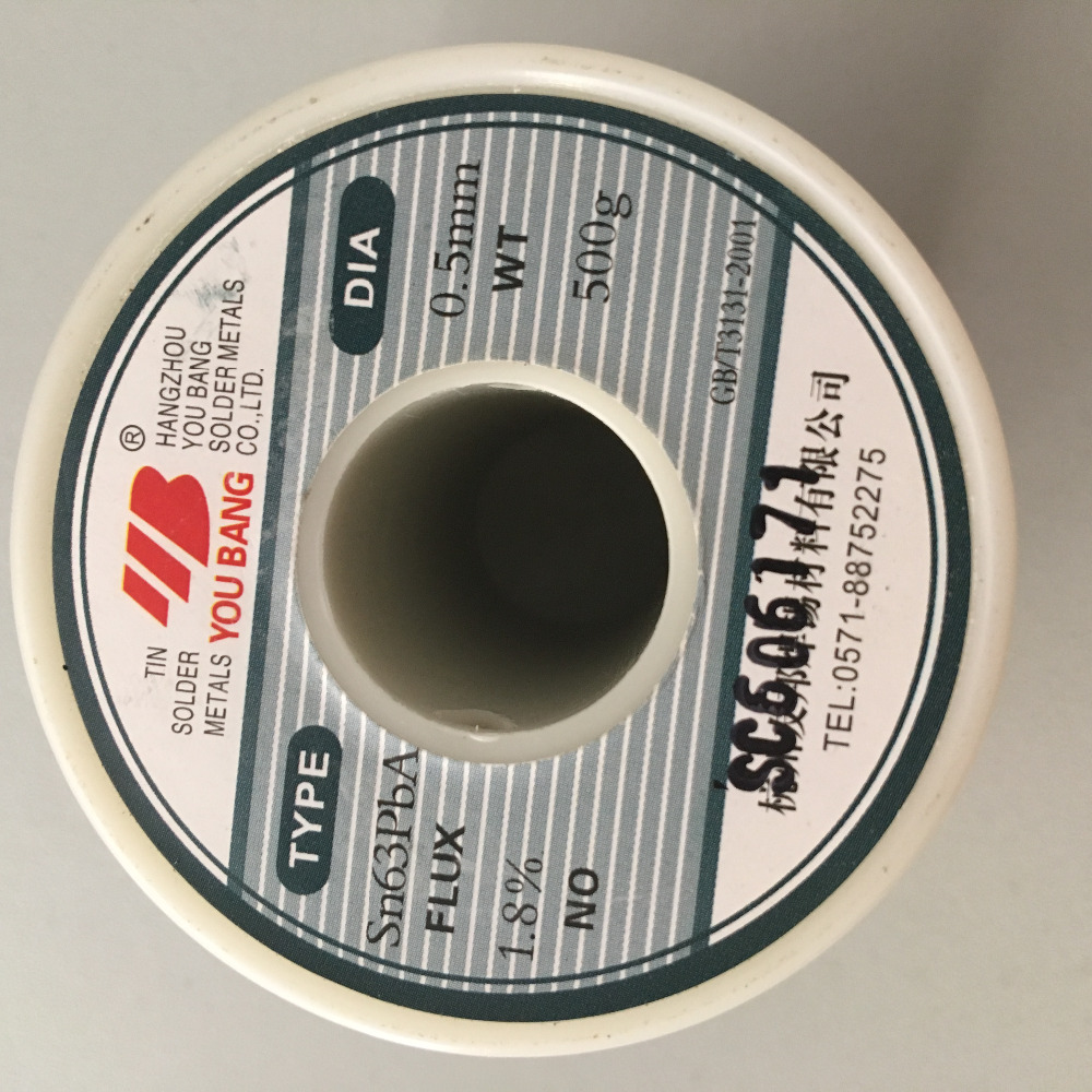 Free Shipping Rosin Core Tin/Lead 0.5mm 63/37 Tin Solder Soldering Welding Iron Wire Lead Rosin Core Flux1.8% Reel стоимость
