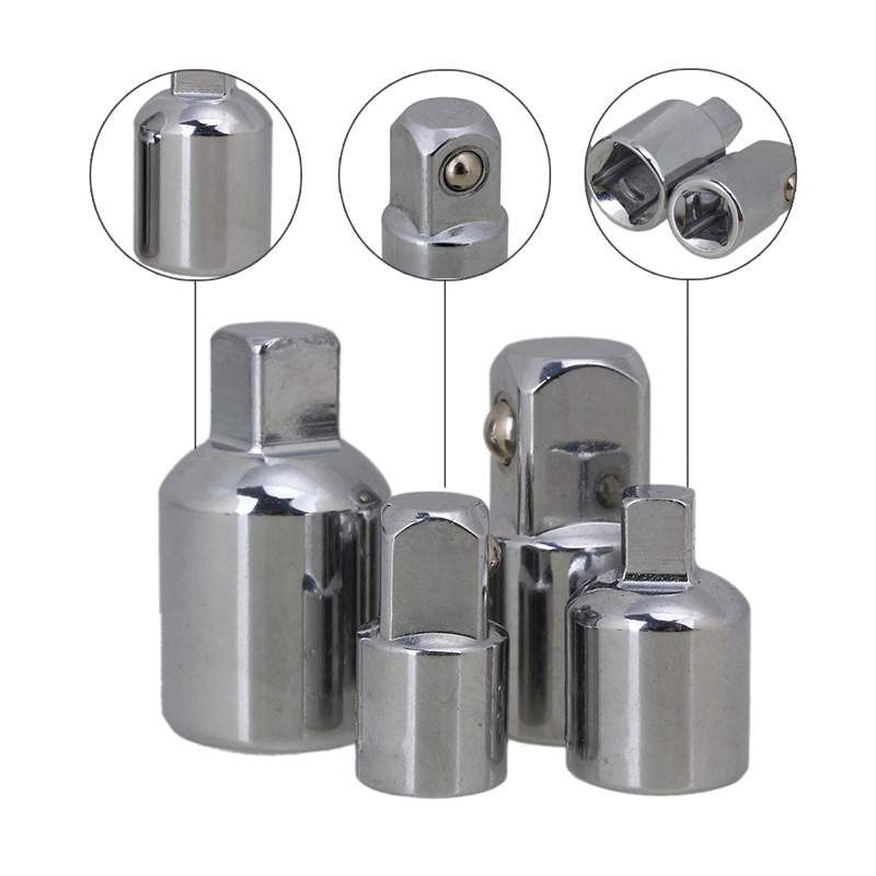 "4PCS 1/4 ""3/8"" 1/2 ""Chiave a cricchetto Presa Adattatore Chiave Chiave Set di utensili manuali Riduttore Adattatori di impatto Convertitore"