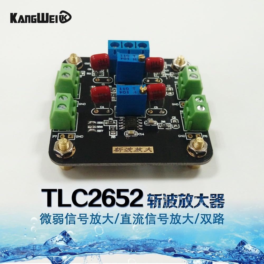 TLC2652 module weak signal amplified DC signal amplifier chopper amplifier double circuit amplified футболка