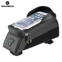 ROCKBROS Bicycle Bag Touch Screen Front Tube Phone Bike Bag For Bicycle 5.8/6 Inch Waterproof Frame Panniers For Mtb Accessories