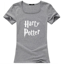 TUSDTW019 Harry Potter womens tops fashion 2015, novelty printed summer cotton women tops with plus size 3xl freeshipping(China (Mainland))