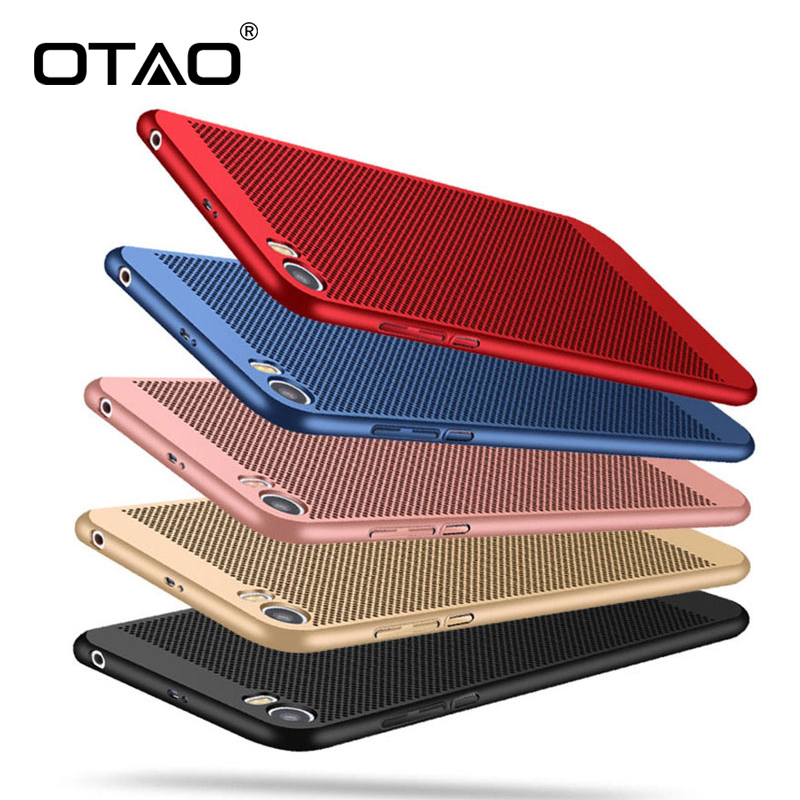 OTAO Phone Case For Xiaomi 5C 6 For Redmi 4X Heat Dissipation Phone Cover Ultra Thin Hard Matte Plastic Protect Back Cover