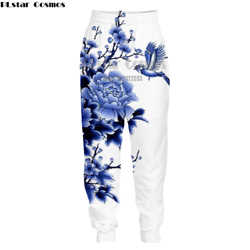 PLstar Cosmos 2018 New Men/Women Casual Pants Chinese Style 3d Print Trousers Floral Printed Long Sweatpants 5XL dropshipping