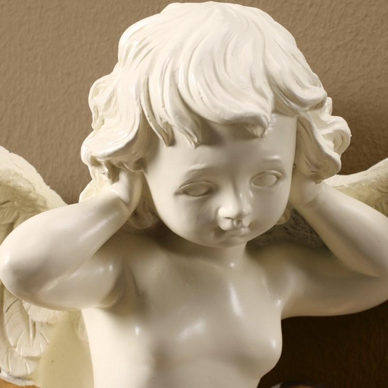 Mignon cupidon amour ange Statue 3D fond Mural Mural Sculpture Colophony artisanat maison salon décor 3 pièces/ensemble R143 - 3