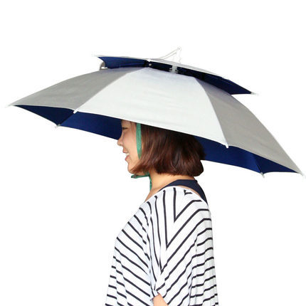 Fishing umbrella hat Head umbrella Double Oxford Folding Fishing Hat UV  protection Fishing gear Sun hat Parasol-in Holidays Costumes from Novelty    Special ... dbf19a1f839