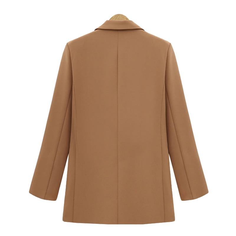 Brieuc Autumn Winter Suit Blazer Women 2019 New Casual Double Breasted Pocket Women Jackets Elegant Long Sleeve Blazer Outerwear