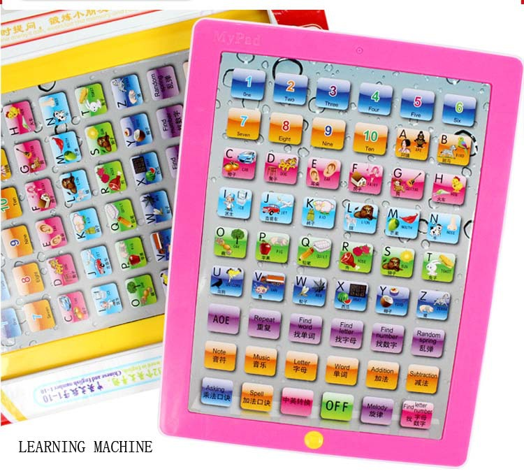Child Number and Word Learning Pad Toy English Edition ABC Educational Y Pad Toy Learning Book