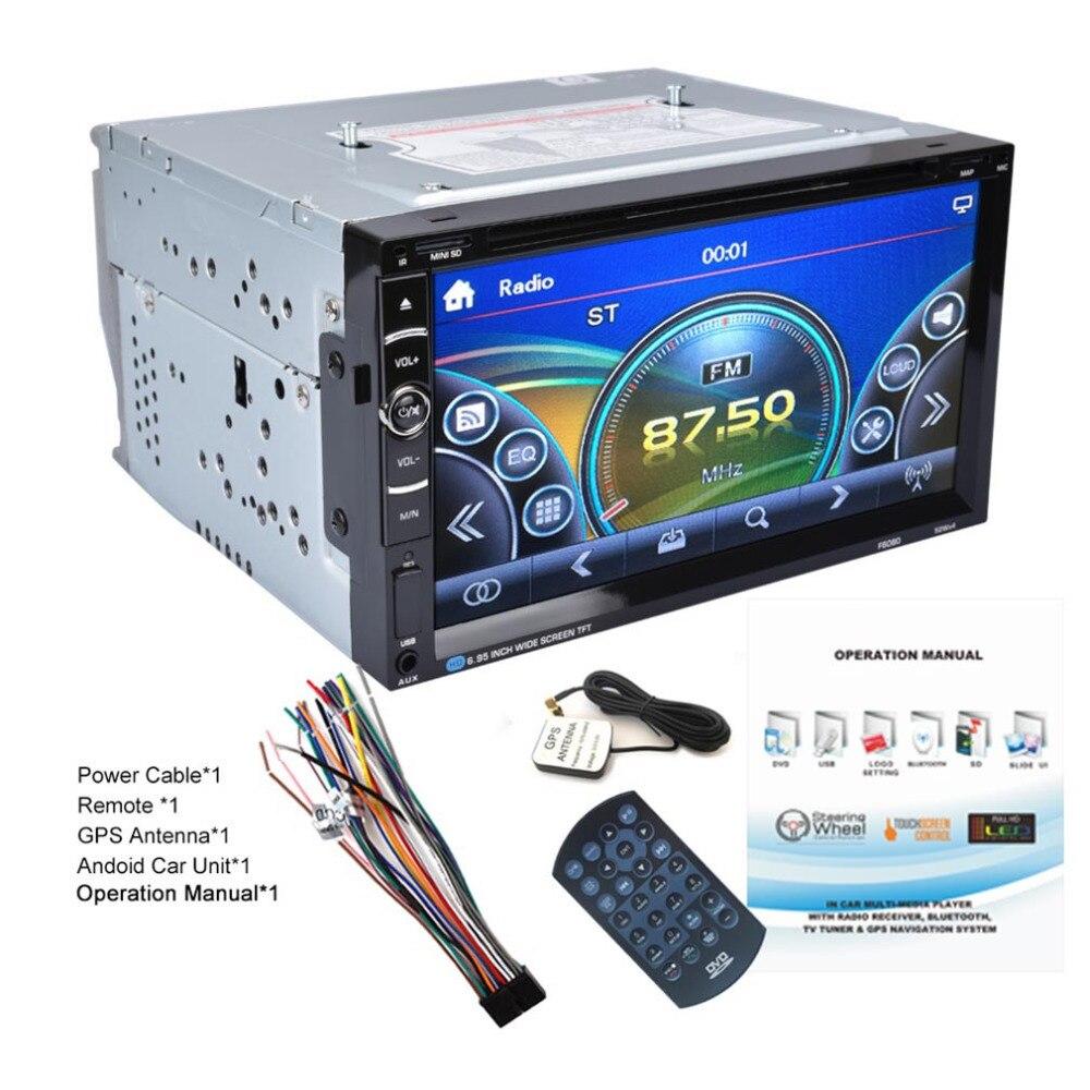 High Quality Universal Android 7inch Dual 2Din 800*480 Car Stereo Radio GPS DVD Player Auto Audio USB Bluetooth Radio FM автомобильный dvd плеер joyous kd 7 800 480 2 din 4 4 gps navi toyota rav4 4 4 dvd dual core rds wifi 3g