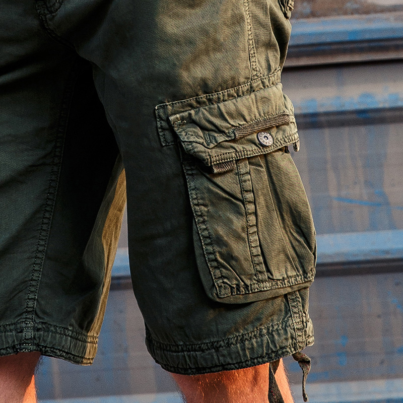 MASCUBE 2017 Hot Camouflage Cargo Military Shorts Men Outwear Cotton Loose Work Trousers Multi Pockets Army Casual Masculino