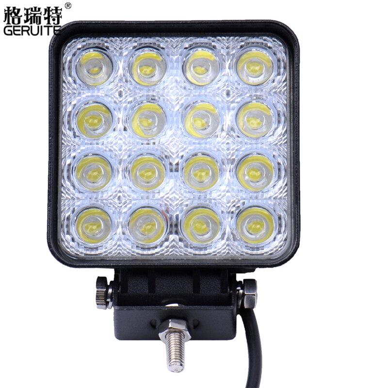 Prix pour 10 PCS/Lot 48 W Voiture Spot Lampe de Travail Camion Lampe Frontale Moto Hors Route Brouillard Lampe Tracteur Voiture LED Phare Travail lumières Carré/Rond