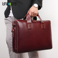 UNICALLING laptop bag leather 100% Guaranteed classy genuine leather men laptop briefcase can hold 13 14 15 15.6 laptop handbag