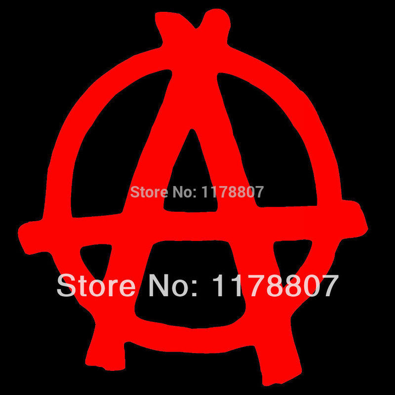 Decal Sticker Bumper Cut Vinyl Motorcycle Neon Anarchy 3,9 x 3,5 15 Colors Chrome