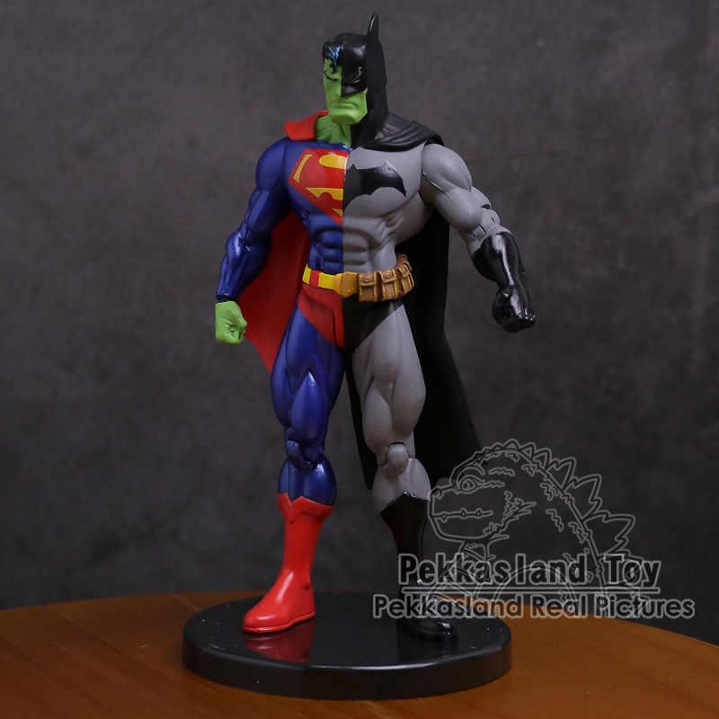 """Dc super herói superman x batman pvc figura de ação collectible modelo brinquedo 7 """"18 cm"""