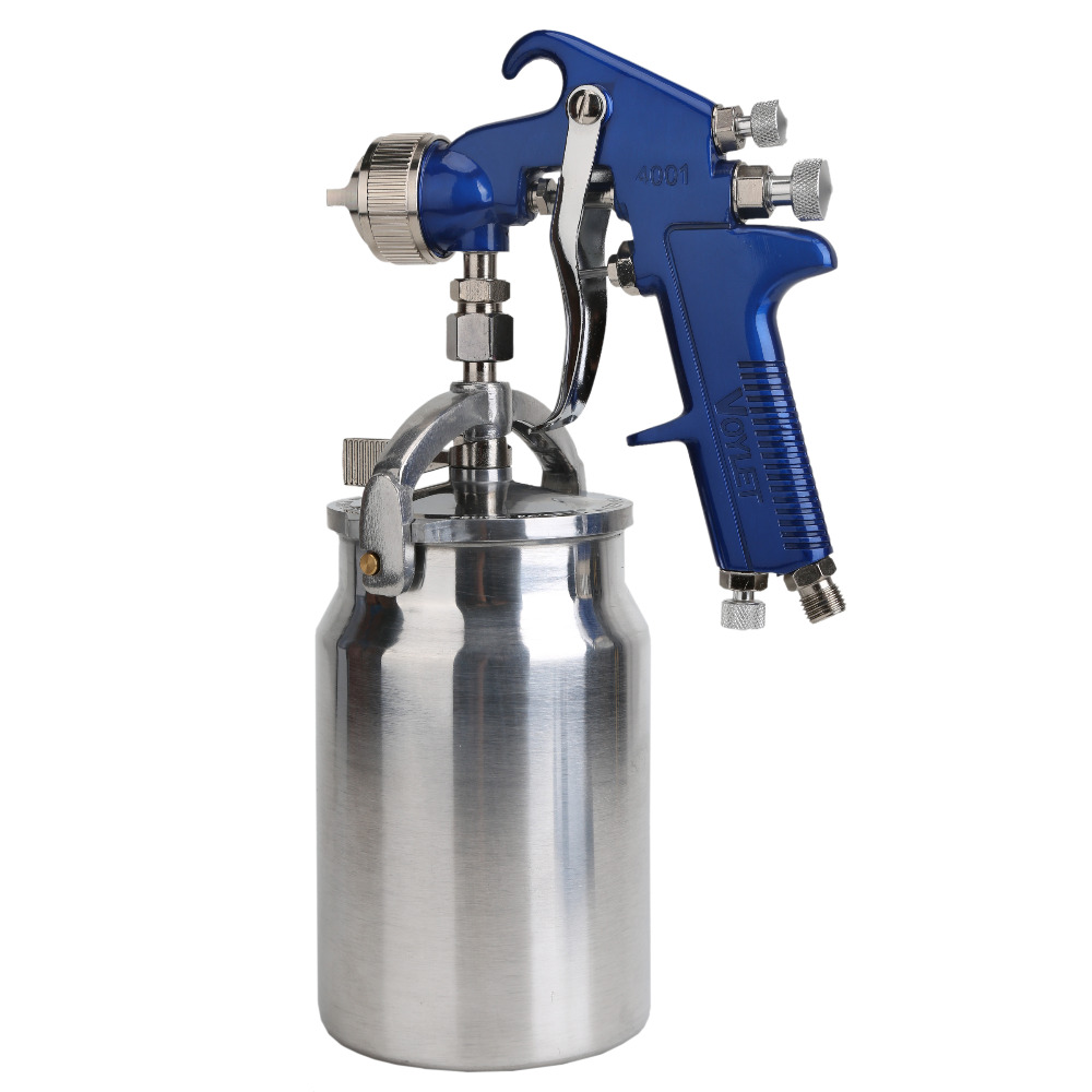 цена на Siphon Feed Air Spray Gun HVLP Paint Spray Gun 1000ml Cup Professional Penumatic Car Paint Tools Nozzle Size 1.4mm 1.7mm 2.0mm