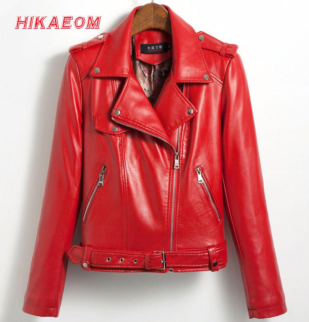 sheepskin coat winter women short Pu leather jacket turn down collar long sleeve women's sheepskin coat winter autumn coat women