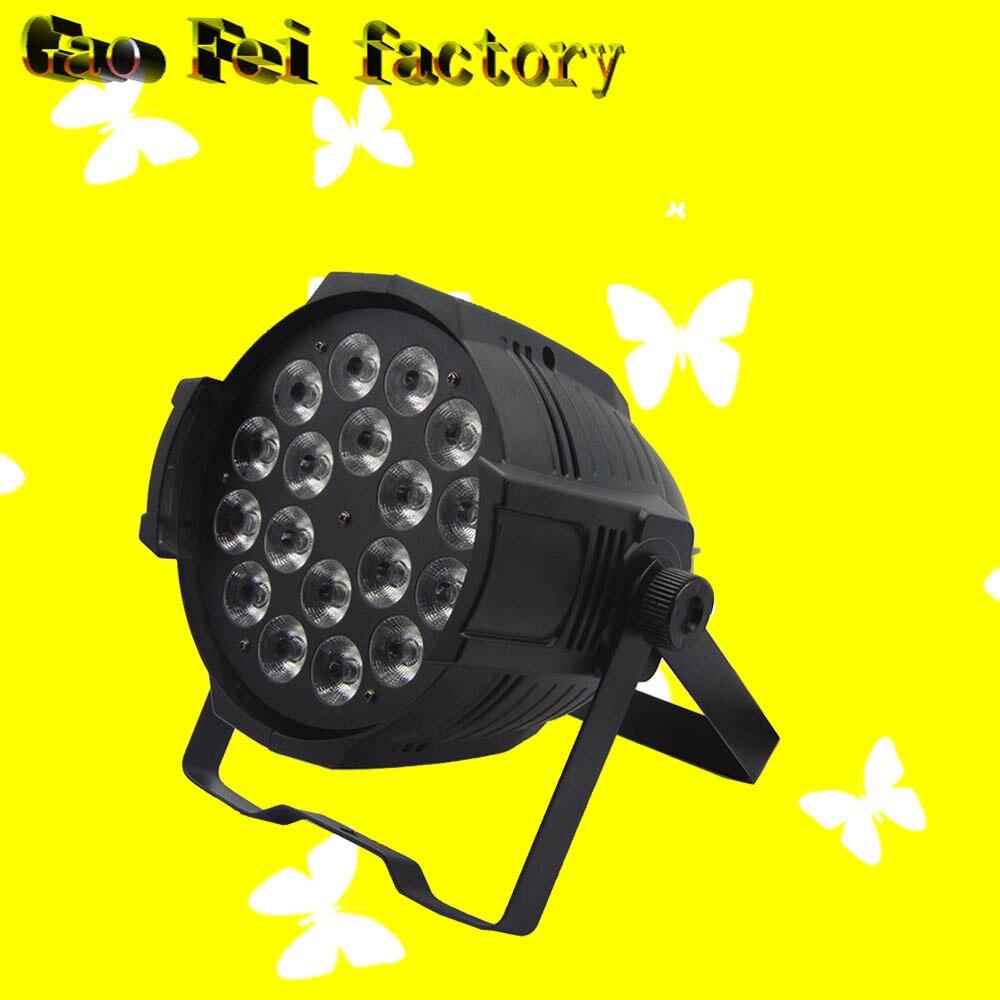 1 pcs/lot Aluminium 18x12 w RGBW 4in1 LED Par Can 64 led projecteur dj projecteur lavage