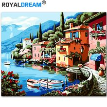 ROYALDREAM Landscape  DIY Painting By Numbers Kit Acrylic Paint HandPainted Oil On Canvas for Living Room
