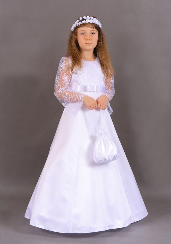 2018 New Holy First Communion   Dresses   for Weddings Long Sleeve Lace A-line Para Ninas   Flower     Girl     Dresses   Vestidos de Comunion