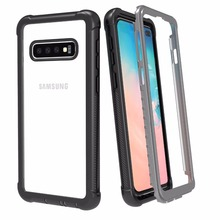 For Samsung S10 case Rugged Heavy Duty Bumper Armor Cover Without Built-in Screen Protector Shock-Absorption Case For S10 Plus цена