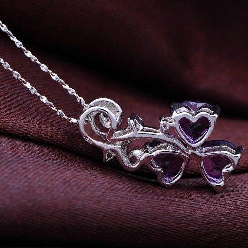Колье ожерелье Qi xuan_фиолетовый камень кулон ожерелье_ Настоящее ожерелье_ Качество прямые ed_производитель прямые продажи