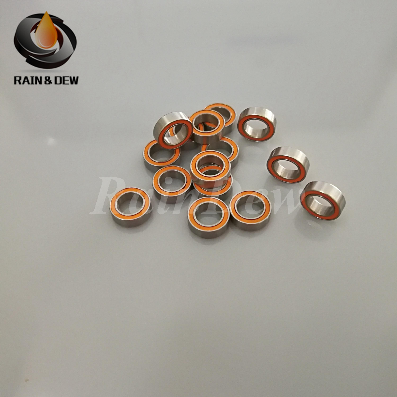 4pcs 4x7x2.5 Hybrid Ceramic Stainless Bearing SMR74C 2OS A7  OILED