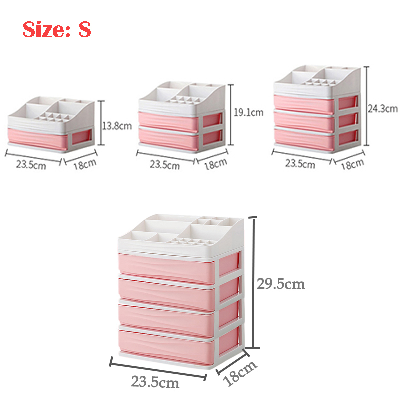 HTB1eH6EbdjvK1RjSspiq6AEqXXar - JULY'S SONG Plastic Cosmetic Drawer Makeup Organizer Makeup Storage Box