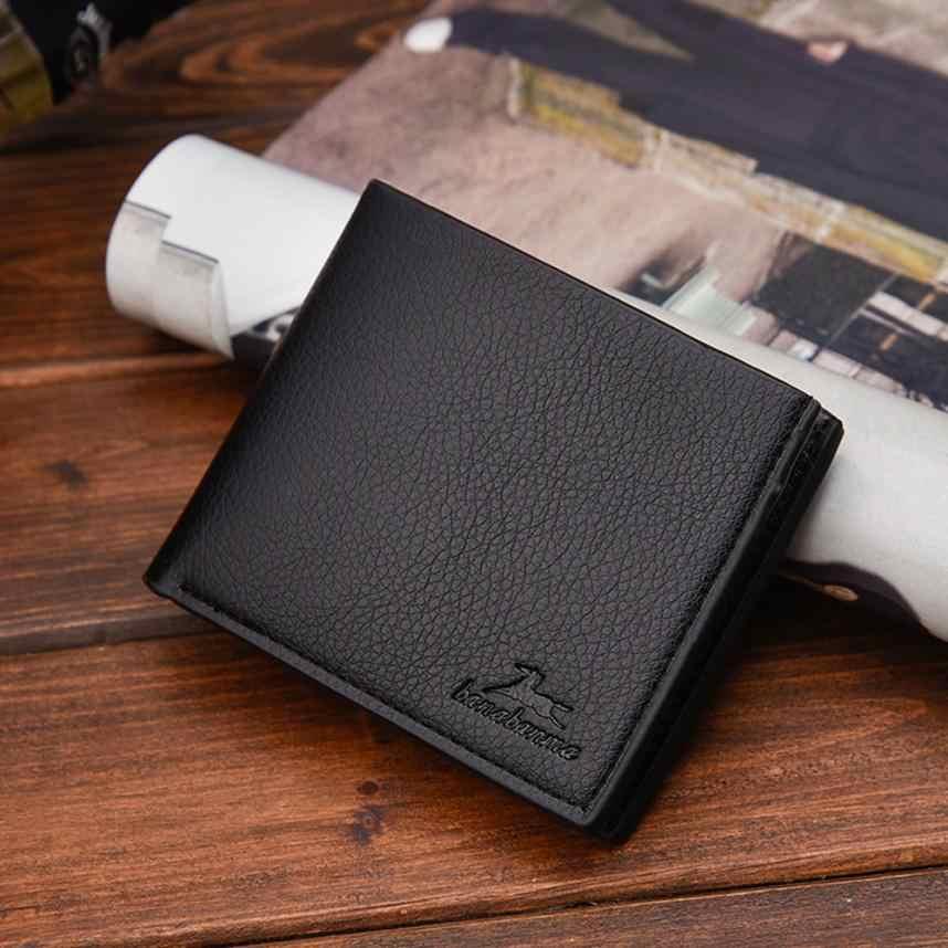 財布男性カードホルダーコイン財布メンズクラッチ財布固体お金袋短いビジネスportefeuilleファム