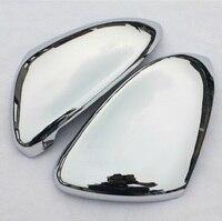 1 Pair Rearview Mirror Case Full Chrome Matt Finish Door Wing Mirror Cover Cap Shell Housing for Golf 7 Golf 7
