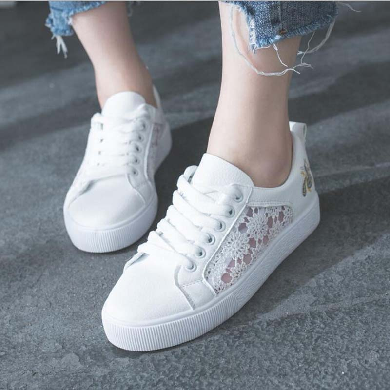 Sneakers Women Fashion Breathable Platform Shoe Casual Female Footwear Leisure Ladies White Shoes Womens Vulcanize Shoes CLD902