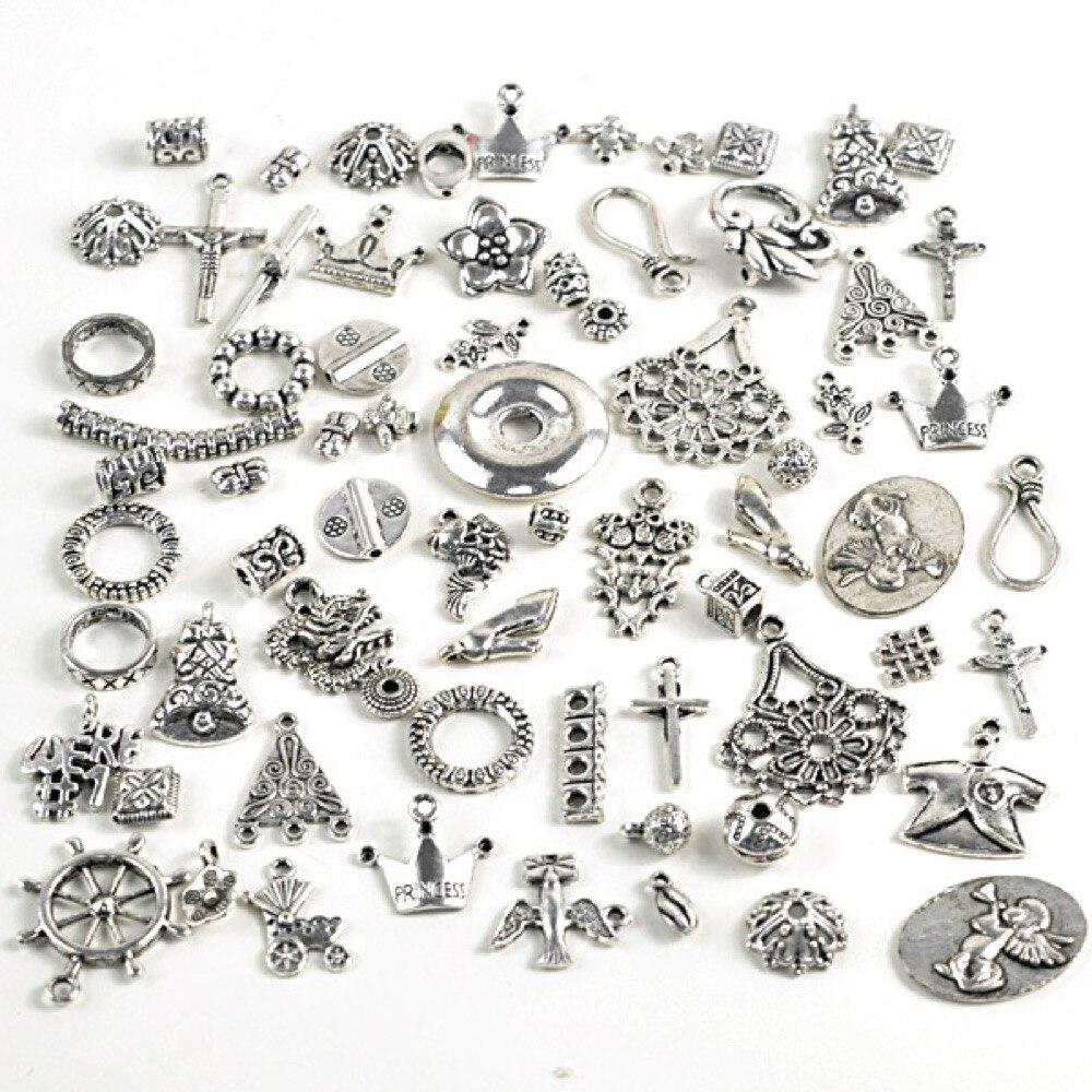 a70ae42a1 50 جرام عشوائية ميكس العتيقة الفضة التبتية السحر الخرز النتائج ميكس كرافت V -SC0002