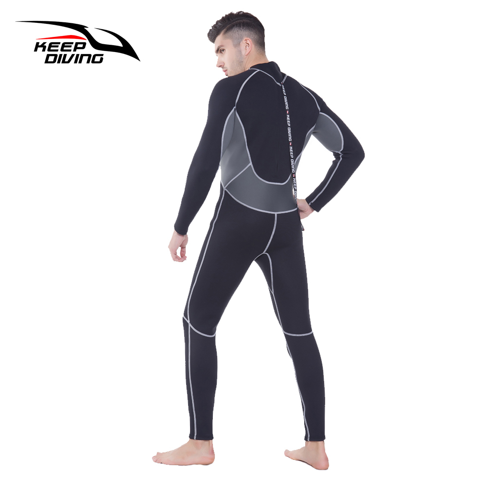 Image 2 - KEEP DIVING Professional Neoprene 3MM Wetsuit One Piece Full body For Men Scuba Dive Surfing Snorkeling Spearfishing Plus Size-in Wetsuit from Sports & Entertainment