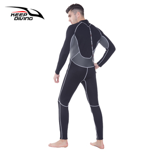 Image 2 - KEEP DIVING Professional Neoprene 3MM Wetsuit One Piece Full body For Men Scuba Dive Surfing Snorkeling Spearfishing Plus Size