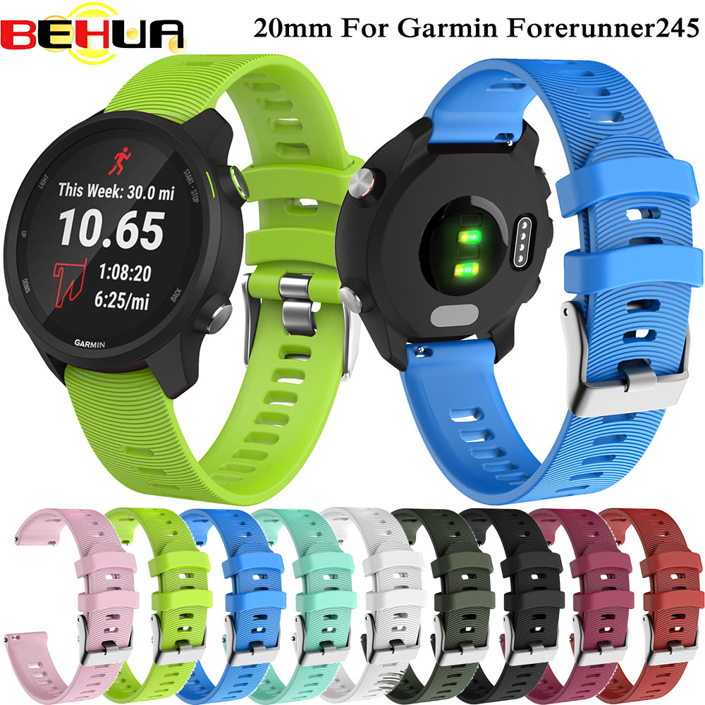 Colorful Soft Silicone Replacement Strap For Garmin Forerunner 245 Smart Sport Wristband For Garmin Forerunner 245M Watch Band
