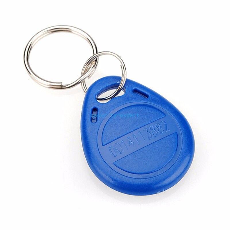 RFID ID Key Card Tags Keyfobs Token TAG Keychain 125KHZ TK4100 Read Only 1Pcs 10pcs 125khz rfid proximity em4100 tk4100 key fobs token tags keyfobs keychain id card read only door access control system
