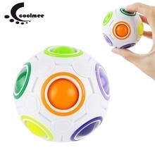 Nový Stress Reliever Kouzelný Rainbow koule Zábava Magic Cube Fidget Hádanka Fotbal Tvar Děti Dítě Baby Vzdělání Toy Party Dárky