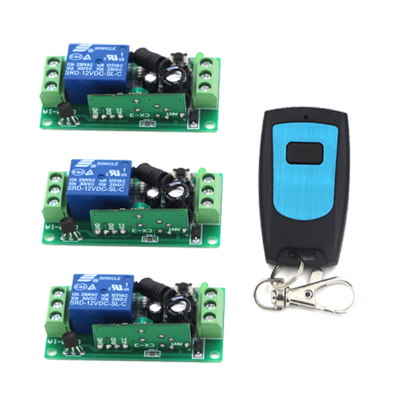 Computer Remote Switch Remote Boot Up Wirelss Start Up Relay Contact Button Switch DC9V12V24V Mini RF Remote Control