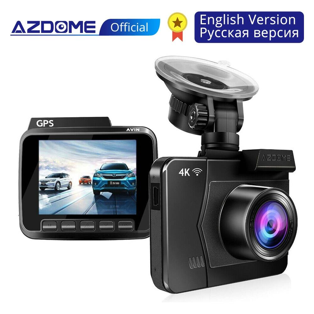 AZDOME M06 4 K/2880*2160 P WiFi voiture enregistreur dvr Dash Cam double lentille véhicule caméra arrière intégré GPS WDR Vision nocturne Dashcam